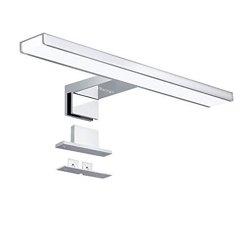 Lampada da Specchio a LED per Bagno, Dalmo Lampada Armadio Applique da Parete Corpo in alluminio 30CM, Lampada Specchio Bagno 10W 4000K 650LM, IP44 impermeabile tre metodi di installazione