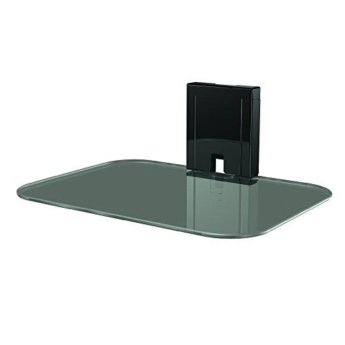 Sanus AV-plank met gehard glas aan de muur voor het streamen van apparaten, gameconsoles en kabeldozen - SOA-AVS1-B2