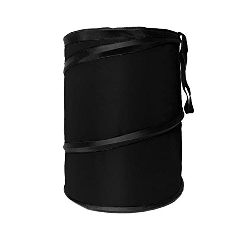FH Group FH1121BLACK Auto Car Trash Can Portable Collapsible Car Trash Can Waterproof Garbage Container Large, Black Color