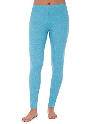Fruit of the Loom Women's Beyondsoft Waffle Thermal Pants, Teal Heather, Medium
