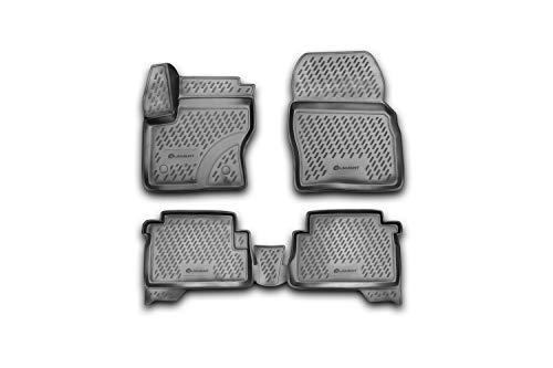 Element EXP.CARFRD00009k Sol sur Mesure Compatible avec Ford Kuga 2013-2019 Tapis Voiture en Caoutchouc, Noir, Ajustement Laser personnalisé