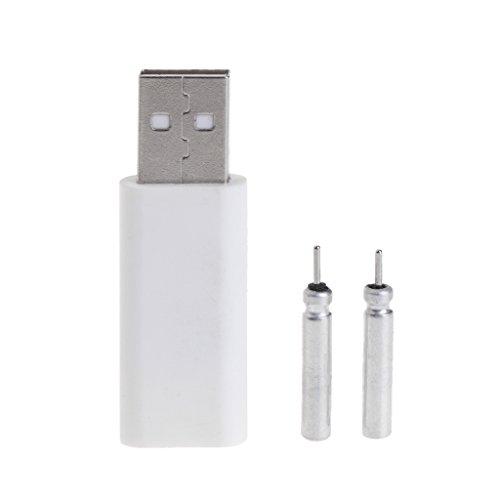 Lergo 1 Set Akkus für Angelpose, wiederaufladbar per USB, CR425 Leuchtstab-Ladegerät