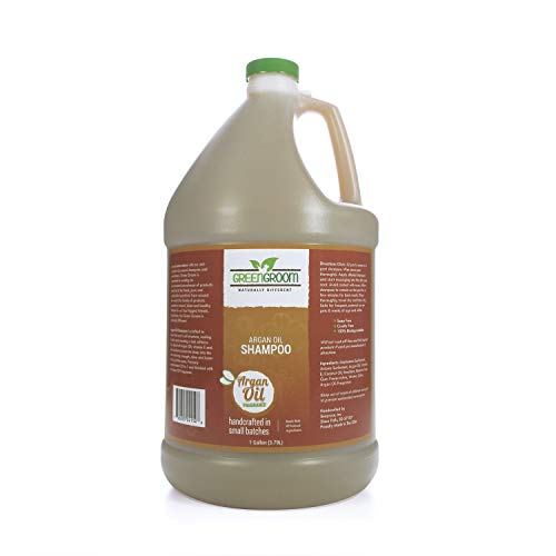 Green Groom Argan Oil Dog Shampoo, 1 Gallon - Vitamin E and Antioxidant Rich, Restores Shine, Moisturizing, All Natural Ingredients, Soap and Cruelty Free