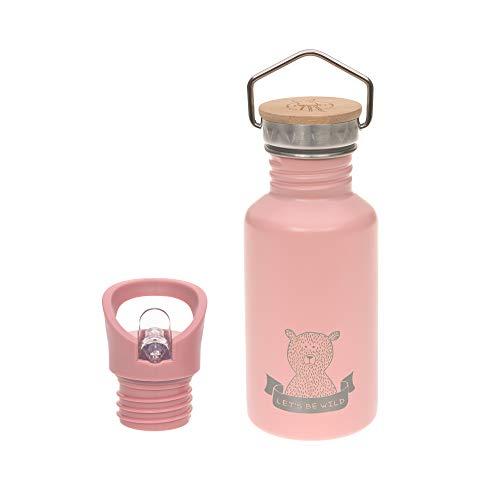 LÄSSIG Edelstahlflasche mit zusätzlichem Sport Cap 500 ml Adventure Outdoor rose