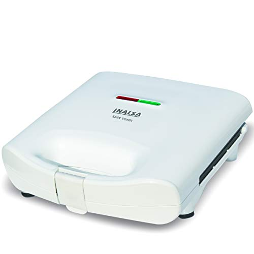 INALSA Easy Toast Sandwich Maker-750W with Non-Stick Coated Plate and Bigger body|Deep Filling, Triangle Sandwich,(White)