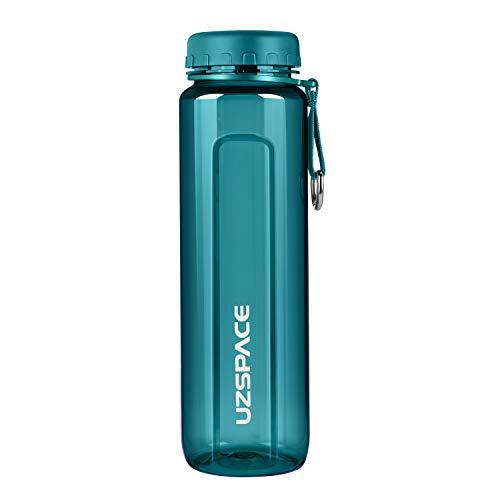 UZSPACE Sportiva Bottiglia d'Acqua 350ml-500ml-750ml-1000ml Borraccia a Prova di perdite,Bottiglia Sportiva Bambini Scuola, Senza BPA