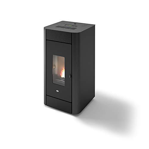 Eva Calor Estufa de pellets Hydro Frida 13 13 kW ventilada negra gofrada - 901670700