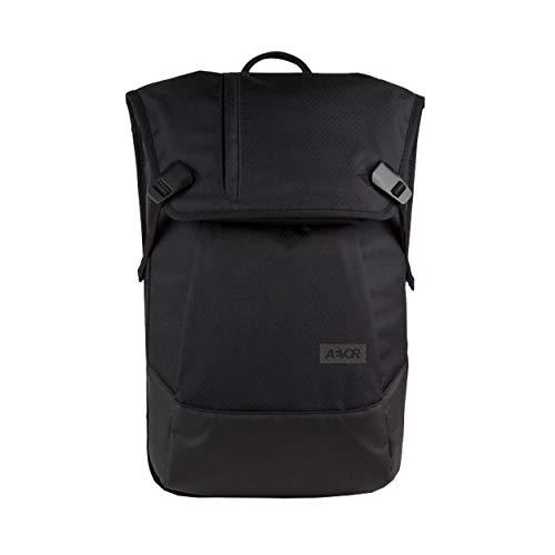 AEVOR Daypack Proof - Wasserdichter Rucksack für die Uni und Freizeit Inklusive Laptopfach und erweiterbar auf 28 Liter - Proof Black - Schwarz