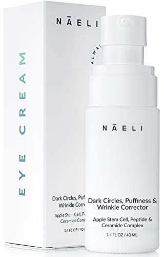31YITYHWREL - Eye Cream for Dark Circles, Puffiness & Wrinkles - Anti Aging Bags Treatment - Apple Stem Cell, Peptide & Ceramide Complex - Hydrates, Brightens & Restores Under Eye, 1.4 oz.