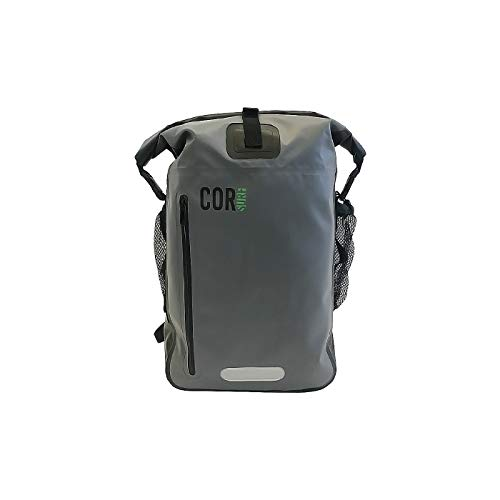 COR 25L Waterproof Dry Bag Backpack with Padded Laptop Sleeve (Grey, 25L)