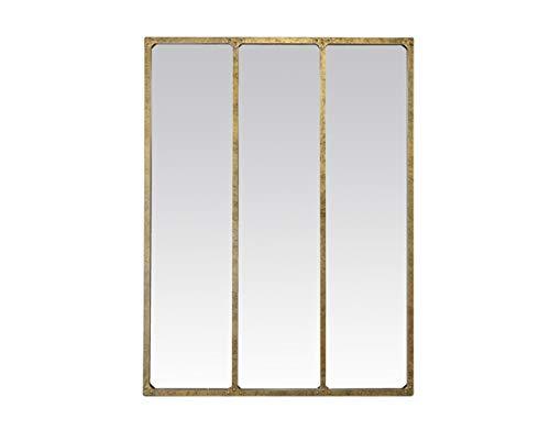 EMDE Espejo Metal Industrial 3Bandas Dorado 90x 120cm