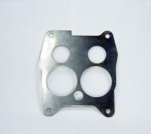 Metal Baffle Plate Base Gasket Compatible with Rochester 4 BBL Quadrajet Carburetor in 1967-1969 Cadillac (Metal shim/Heat shield, Stainless steel)