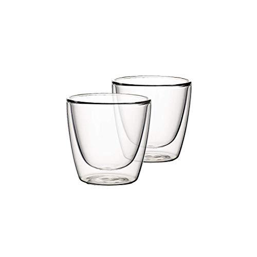 Villeroy & Boch Artesano Hot & Cold Beverages Becher M, 2er-Set, 220 ml, Borosilikatglas, Klar