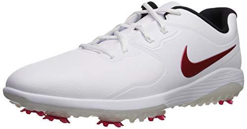Nike Vapor Pro, Zapatillas de Golf para Hombre, Multicolor (White/University Red/Black 000), 41 EU