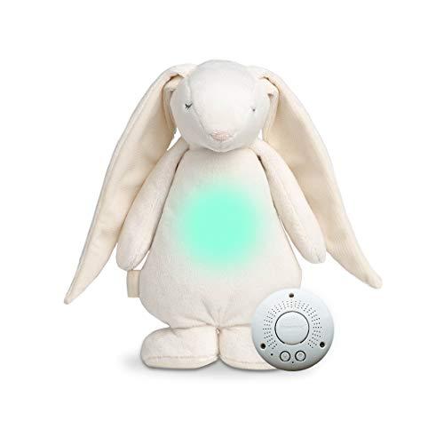 MOONIE White Pink Noise Toy | Baby Slaaphulp Knuffel met licht en geluid | USB oplaadbaar knuffel met huilsensor | Geschikt vanaf de geboorte | Mag in de wasmachine