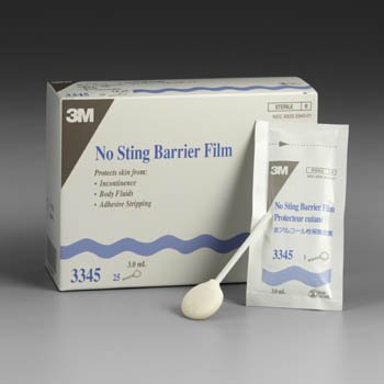 3M Health Care 3345 Cavilon No Sting Barrier Film, 3 mL Capacity (Pack of 100)