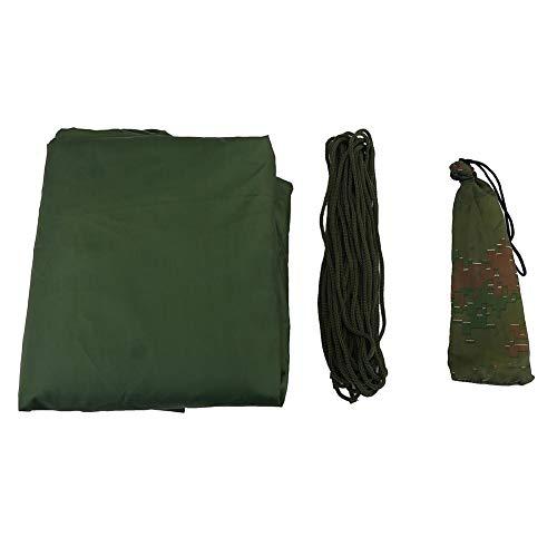 Bâche d'extérieur Polyvalente, abri de Tente de Tente de Mouche imperméable léger et Portable avec des Chevilles et des Cordes - Anti-UV/étanche à l'humidité(Vert)
