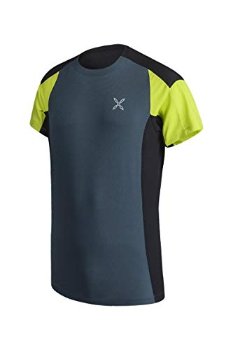 MONTURA - T-Shirt per Uomo Trekking e Corsa Outdoor Trail 2 - Blu-M