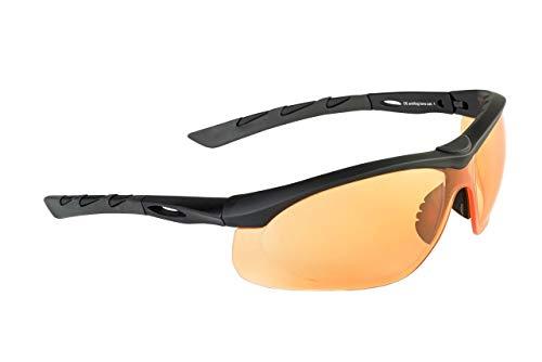 Swiss Eye Buchner Lancer - Gafas de tiro (cristal individual), color naranja