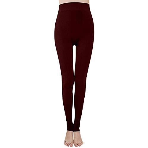 N\P Leggings für Übergrößen Damen Frauen Farbe Pure Übung Elastizität Fitness Damen Gr. S, wein