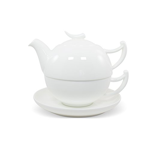 Tea for One Set weiß Epsilon Fine Bone China - TeaLogic