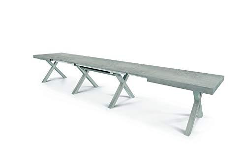 Fashion Commerce Tavolo FC1673, Legno, Cemento Beton, 160 x 90 cm - 410 x 90 cm 18 posti