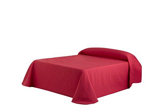 Eysa Bettüberwurf, Polyester, 180 cm, 75, 25 Prozent Baumwolle, Kies Tagesdecke rot 07