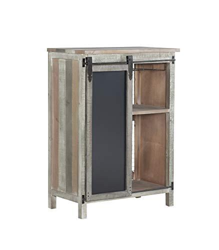 Powell Company Powell Branson Distressed Wine Cabinet, Grey
