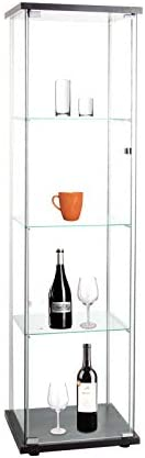 Beauty4U Curio Cabinets with Glass Doors 4 Shelves Glass Display Cabinet for Living Room Floor product image