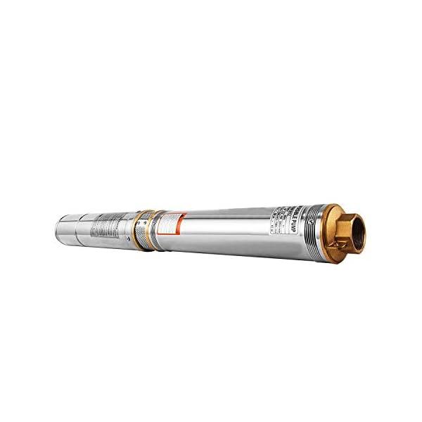 Mophorn Bomba Sumergible 220V 3HP 4SDM para Pozos Bomba de Profundidad de 2.2kW Hasta 70m Bomba Sumergible 14000L / H…