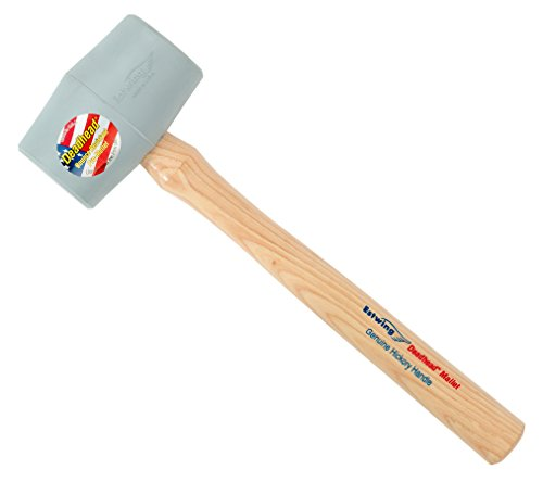 Estwing Deadhead Rubber Mallet - 18 oz No-Mar Hammer with Bounce Resistant Head & Hickory Wood Handle - DH-18N