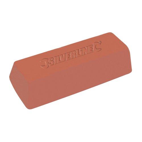 Silverline 107883 - Pasta pulir color rojo 500 g