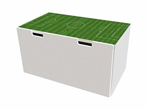 Cancha pegatinas | pegatinas para muebles | BTD05 | adecuado para el arcón de banco STUVA de IKEA para niños(90 x 50 cm) | (mueble no incluido) STIKKIPIX