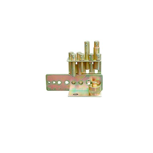Holzmann–Kit de 8punzón con placa de fijación para prensa hidráulica de taller Holzmann