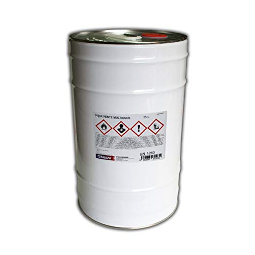 Disolvente Multiusos Nazza | Ideal para la limpieza de resinas y herramientas | 25 Litros Env. Metálico
