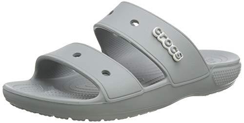 Crocs Classic Crocs Sandal Unisex Adulta Chanclas, Gris (Light Grey), 41/42 EU
