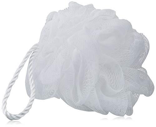 QVS - Esponja redonda para baño, color blanco