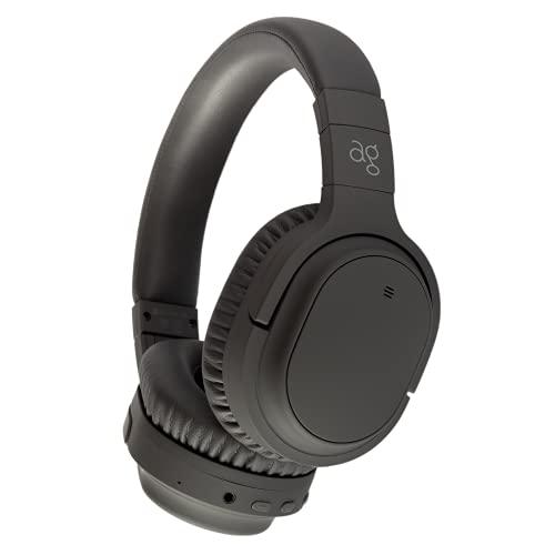 ag WHP01K 【AG-WHP01K】 ワイヤレス ヘッドホン Bluetooth ノイズキャンセリング ノイキャン ANC マイク付き(ダークグレー)