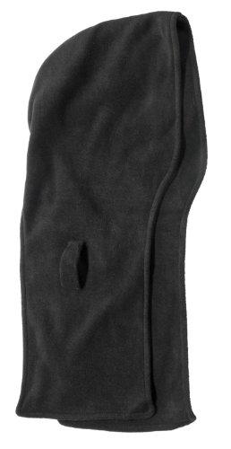 Harrys-Collection Kapuzenschal aus Fleece in 2 Farben zum wenden, Kopfgröße:Einheitsgröße, Farben:schwarz
