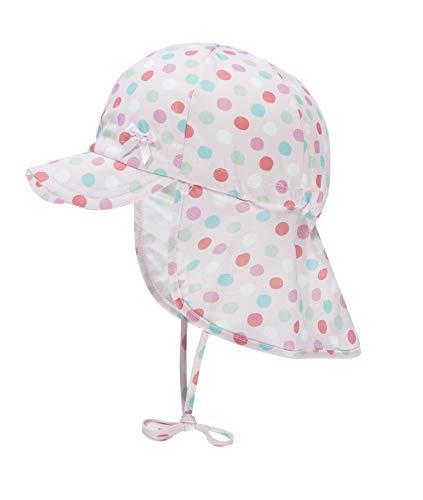 Döll Baby-Mädchen Bindemütze mit Schirm und Nackenschutz Sonnenhut, Rosa (Pink Lady|Rose 2720), 49