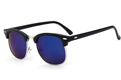 Gafas De Solgafas De Sol De Moda De Medio Metal para Hombre/Mujer, Diseñador De Marca, Remache Retro, Lente, Gafas De Sol Clásicas P
