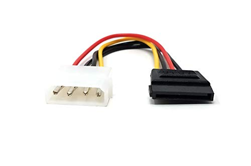 Maincore Stromkabel (4-polig, Molex auf SATA, 15-polig, LP4-auf-SATA-Adapterkabel, für die Stromversorgung von SATA-Festplatten einschließlich Solid State Drives (SSD), 20 cm)