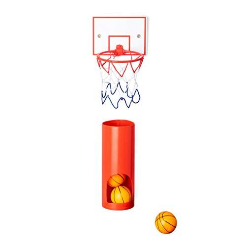Balvi Canasta Baloncesto Private con 3 Pelotas Juego de Basket para el WC Plástico ABS/plástico PVC