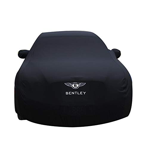 HFFTLH Car Cover Compatible with Bentley : High-Elastic Cloth Material Close to The Body Mulsanne, Continental, Continental Flying Spur, Speed, GT, GT Speed, GTC Series car car Cover,Black,Mulsanne