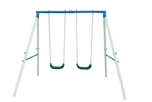 Northern Stone Outdoor Garden Swing Set with 2 Swing Seats Double Swing with Steel Frame Construction