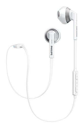 Philips SHB5250WT Wireless Bluetooth Earphones with Microphone, Volume...