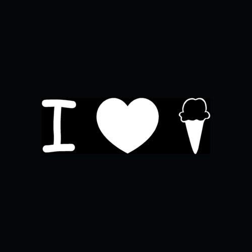 I LOVE ICE CREAM Sticker Cone Vinyl Decal Leuke Grappige Gift Chocolade Vanille Koud - Die gesneden vinyl decal voor ramen, auto's, vrachtwagens, gereedschapskisten, laptops, MacBook - vrijwel elke harde, glad oppervlak