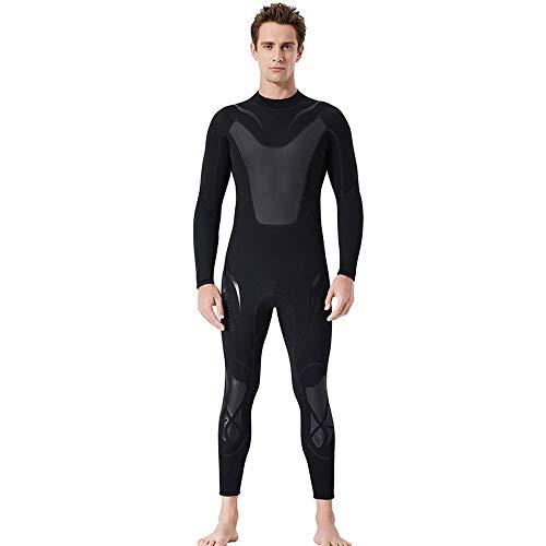 TATANE 3Mm Tauchanzug, Männer Nass Einteiliger Warme Schnorchel Anzug, Frauen Mit Langen Ärmeln Winter Surfen Winter Badeanzug,A,XL