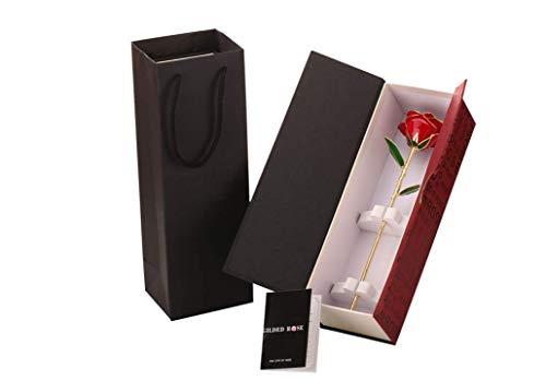 Rose Éternelle Plaqué Or 24K Fleur Artificielle Séché Cadeaux Anniversaire Amour