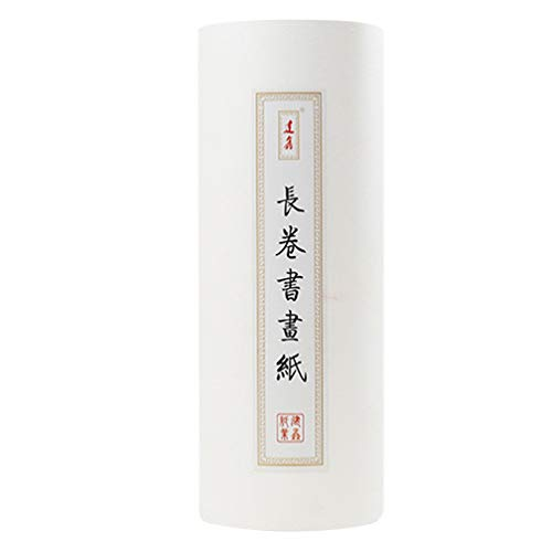 TOYANDONA Chinese Kalligrafie Borstel Inkt Schrijven Xuan Papier Rijstpapier Ruwe Lange Sumi Papier Voor Kalligrafie Schrijven Praktijk Briefpapier Levert 35 Cm X 100 M